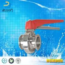 Sanitary Diaphragm Stainless Steel Manual Butterfly Valve