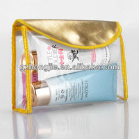 PVC Cosmetic Bag with Color Trim Clear Vinyl Travel Makeup Bag Beauty Case Pouch