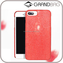 Luxury Genuine Stingray Skin Leather Mobile Phone Case Cover for iphone 6/7 and iphone 6/7 Plus