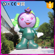 giant inflatable grape cartoon mascot for wine house promotion