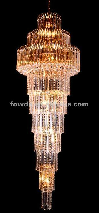 FOWDA Beautiful waterfall Double - staircase chandelier