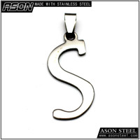 new design stainless steel letter s pendant necklace, tiny initial pendant necklace