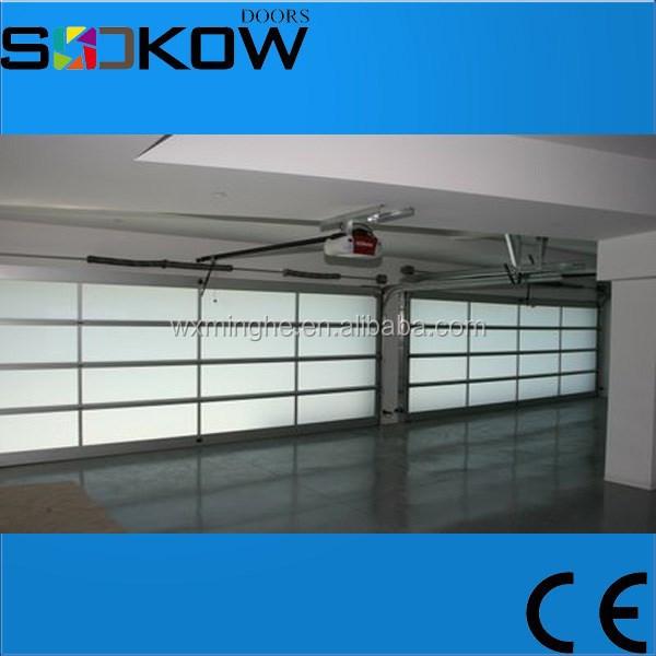 Glass panel sectional garage door china suppliers garage for Sectional glass garage door