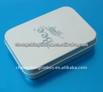 Rectangular play card tin box