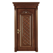 China Commercial Ash Solid Wood Apartment Door Entrance Doors