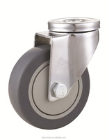 Industrial TPR galvanized caster wheels for service cart