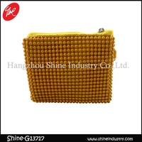 yellow beads moneybag/fashion coin purse/newest style women wallet