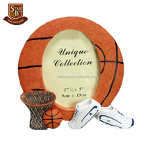 Custom fashion round basketball design resin china photo frame