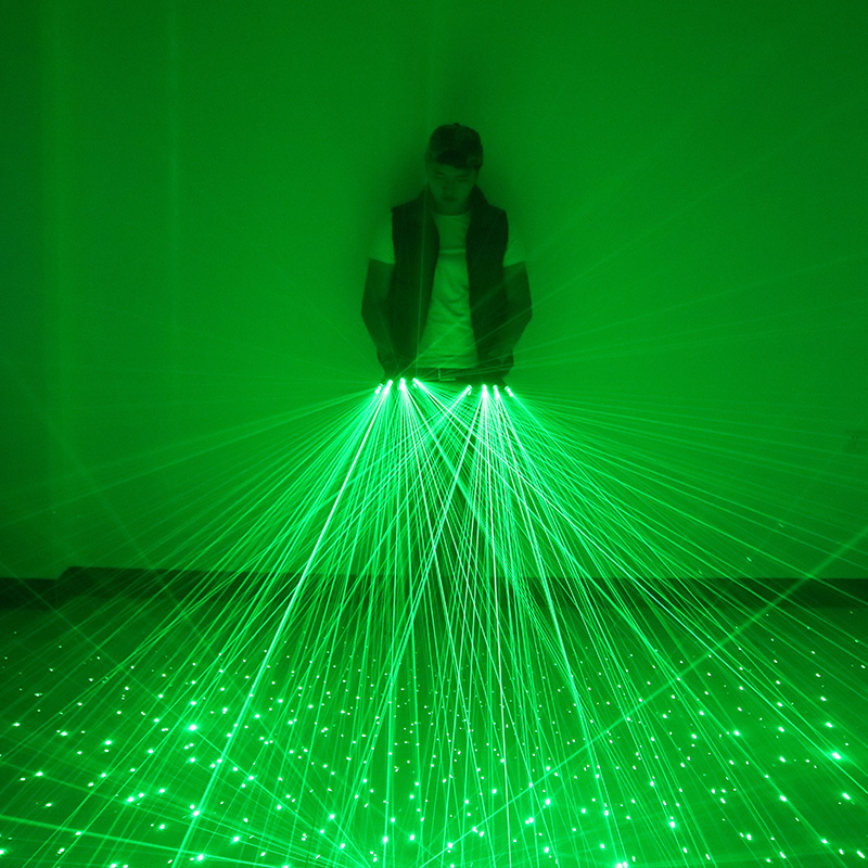4pcs 532nm 80mW Laser Stage Luminous Glove LED Green Laser Gloves For DJ Club/Party <strong>Show</strong>