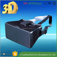 "Professional Manufacturer VR video glasses with wireless camera For 4-6"" big Screen phone"