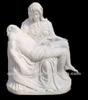 Famous Religious Marble Virgin and Jesus Statue Sculpture
