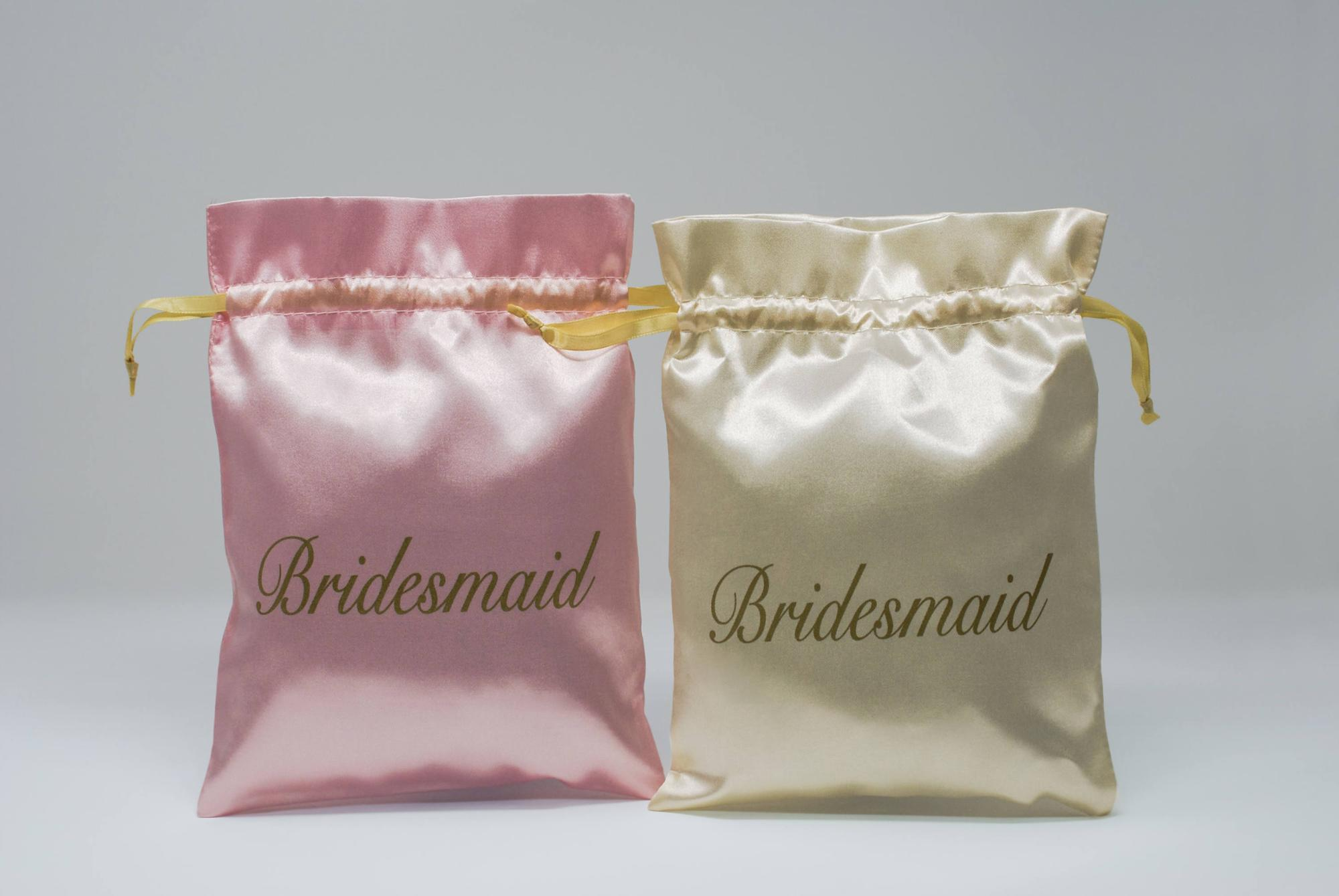 New design bridesmaid satin jewelry gift drawstring pouch bag