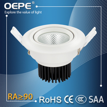 Small Size Mini Led Spotlight With 75mm Cut Out Low Power Cob 3W Led Recessed Ceiling Spotlight