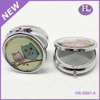 New Product HX-6991 Popular Cute Owl 1 Month Slide Metal Pill Box For office container