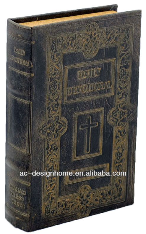 EMBROSSED PU/MDF BOOK BOX
