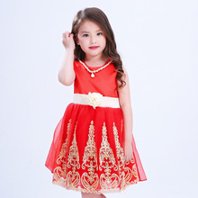 ZH0159F Girl Baby Party Flower Formal Wedding Princess Prom Bridesmaid Christening Dress