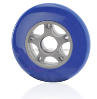 100mm *24mm kids scooter big wheels,outside skateboards/Skateboard Parts Type and PU wheel