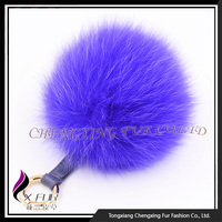 CX-A-63 Cute Fox Fur Pompom Keychain