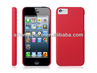 Red simple and elegant pc hard case for iphone 5c by China supplier