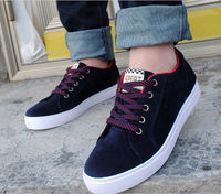 D83732H 2014 MAN'S KOREA LATEST DESIGN PLAIN DYED PURE TOP GRADE BREATHABLE LEISURE CANVAS SHOES