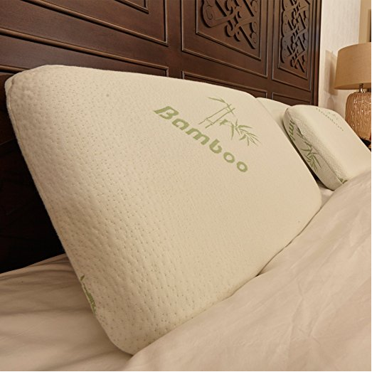 Premium Orthopedic Bamboo Memory Foam Pillow with Gel