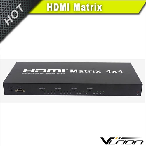 4x4 HDMI Matrix Video Switch Splitter with Audio and RS232