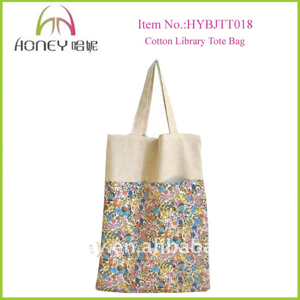 Wholesale Fashion Customized Tote Bag Cotton Library Handbags shopping tote bag