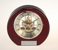 skeleton clock wooden skeleton table clock mechanical clock