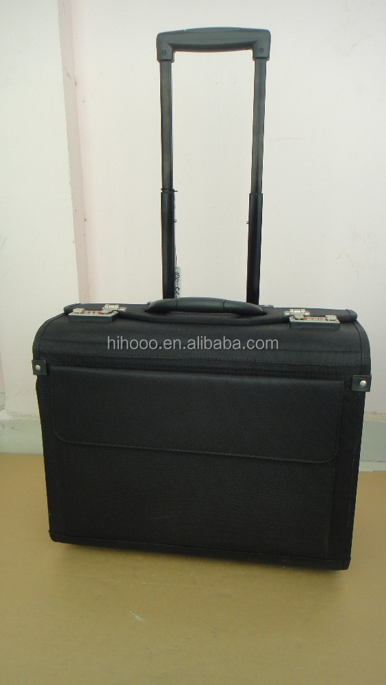 Business Nylon pilot case pilot trolley case wheeled pilot case