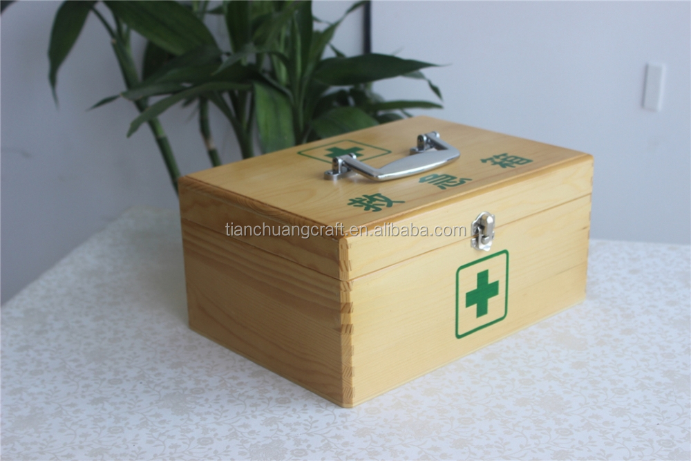 custom made solid wood boxes first-aid cases