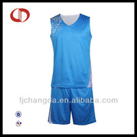 2014 New design blue basketball jersey uniform