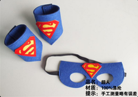 2016 new design halloween superman mask and wrist band for children