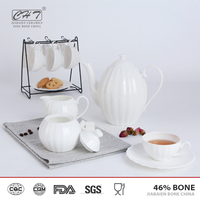 Antique fine bone china porcelain dinner set with plates and bowl and mug