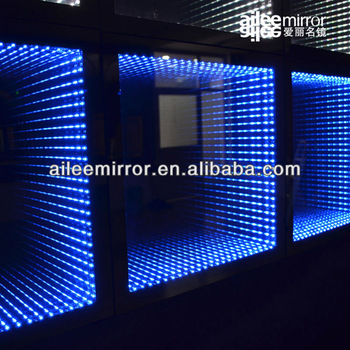 Infinity mirror led smd illusion mirror for home for Lumiere led miroir