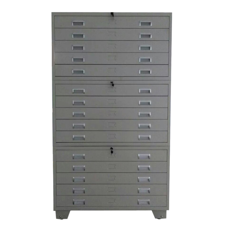 A0 Size High Quality Metal Durable Flat File Cabinet for Map and Drawing Storage