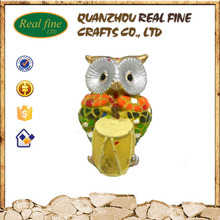 Polyresin custom a drum owl for decoration