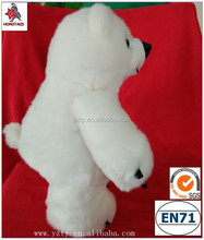 Lovely stuffed promotional toy gifts soft toys polar bear with logo printing