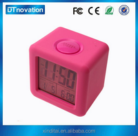 Shenzhen august auto flip desk table clock/computer alarm/digital high quality home