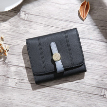 Wholesale custom brand short style leather <strong>wallet</strong> for women