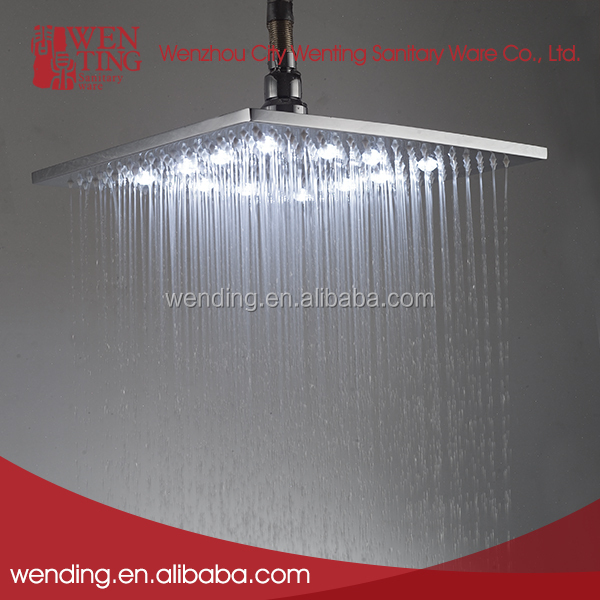 New style popular ISO9001 led color changing shower head with light