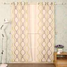 Wholesale Cheap Modern Diamond Tulle Curtains for Living Room Embroidered Sheer for Bedroom Door Fabric