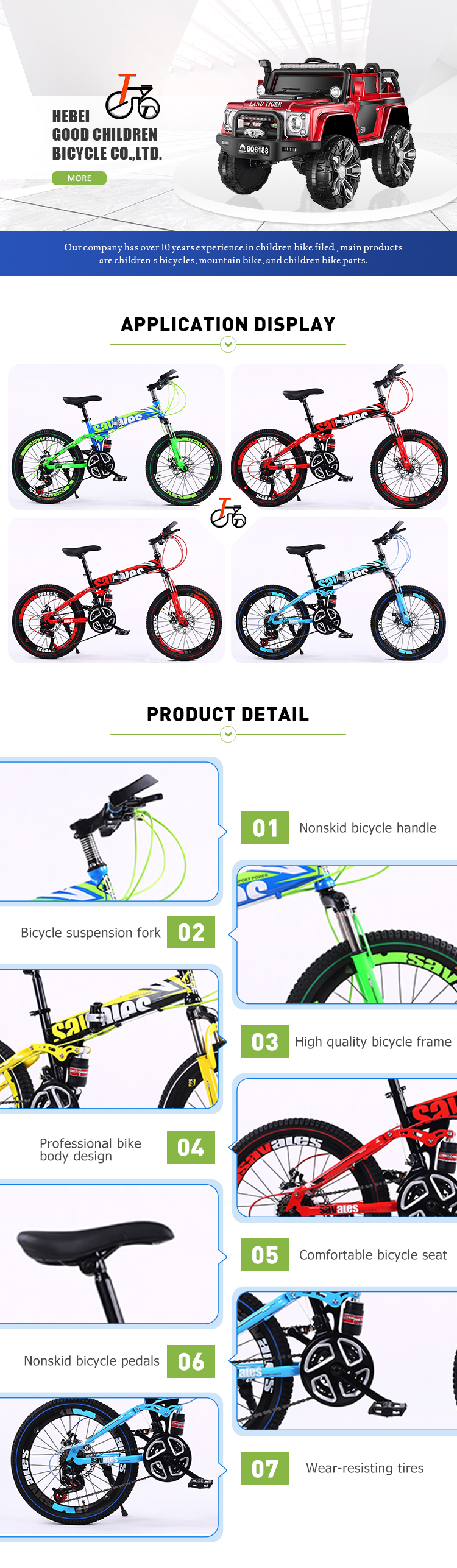 Top Sales OEM Available Quality Safety Child Bicycle