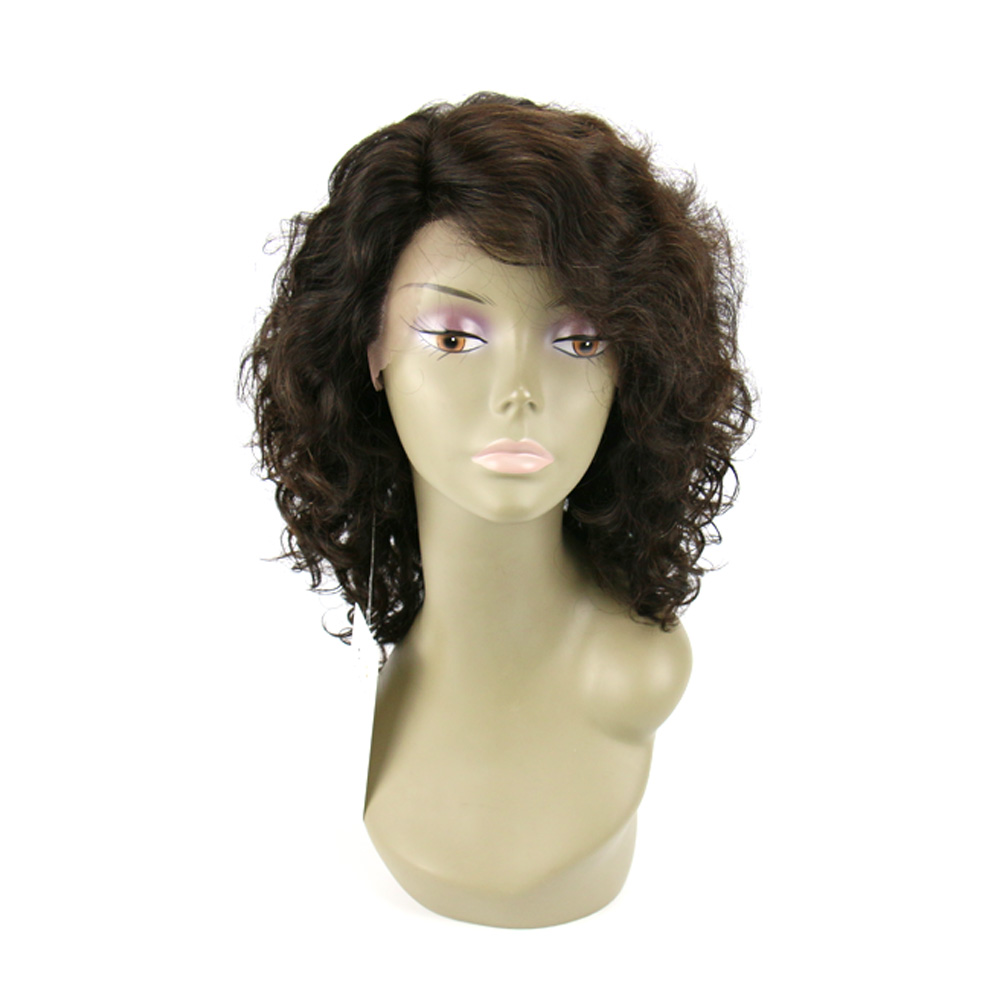 10 inch brazilian hair lace front wigs short curly human hair wigs