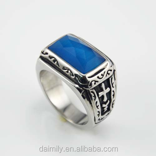 Wholesale rings fashion popular vintage gothic ring made in China Stainless steel ring
