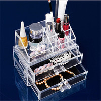 acrylic makeup box,make up case with light mirror