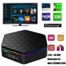 T95Z PLUS TV BOX Amlogic S912 Octa Core Android 6.0 Marshmallow 2GB DDR3 16GB EMMC Flash KODI Pre-installed 2.4G/5G Dual WIFI Ba