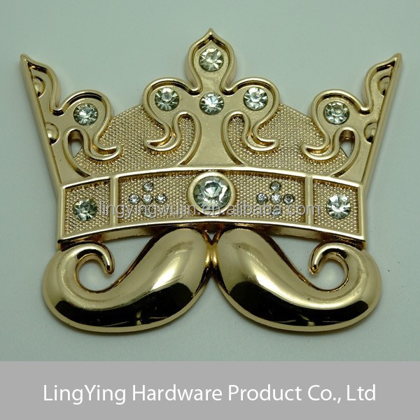 Fashion woman's whiskers & crown shaped hip hop belt buckle