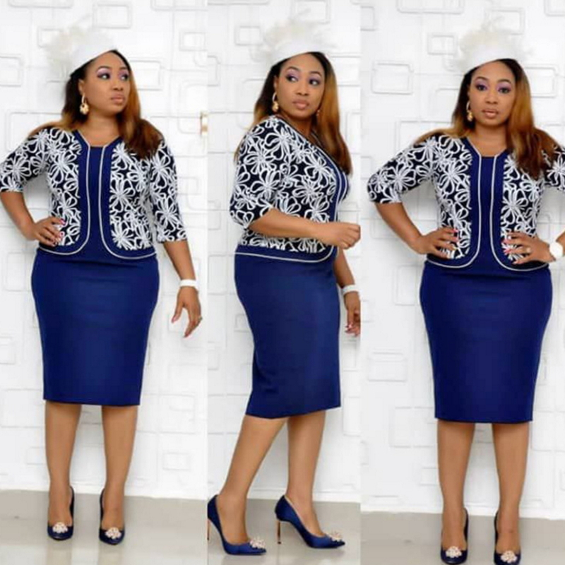 Fashion High Waist Womens Plus Size Dress