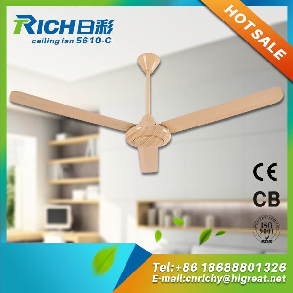 Conservatory Metal Blade Led Light Large Ac Ceiling Fan On