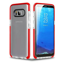 for Samsung galaxy note 8 acrylic clear phone case soft TPU bumper protective anti-knock cover